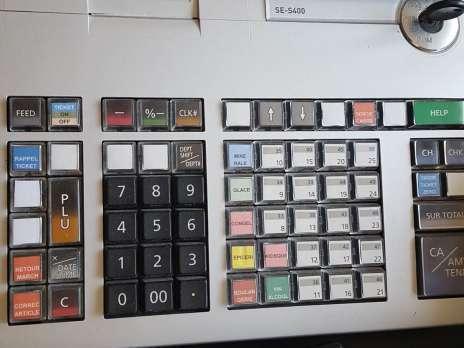 clavier caisse enregistreuse