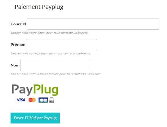 envoyer une demande de paiement avec PayPlug
